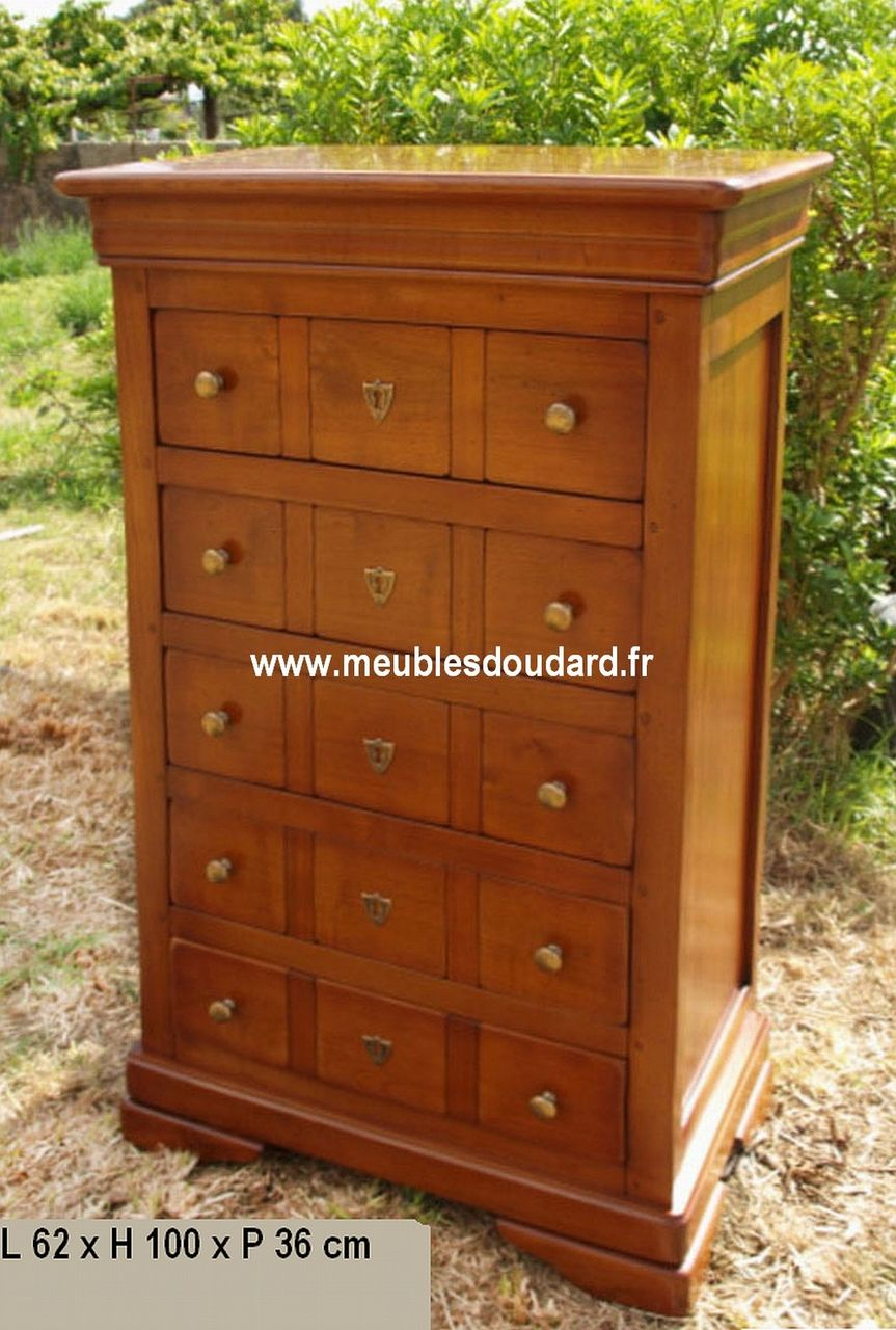 meuble de rangement merisier meuble chiffonnier louis. Black Bedroom Furniture Sets. Home Design Ideas