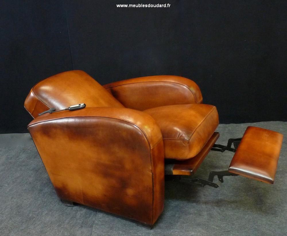 Fauteuil Club A Restaurer fauteuil club éléctrique en cuir basane