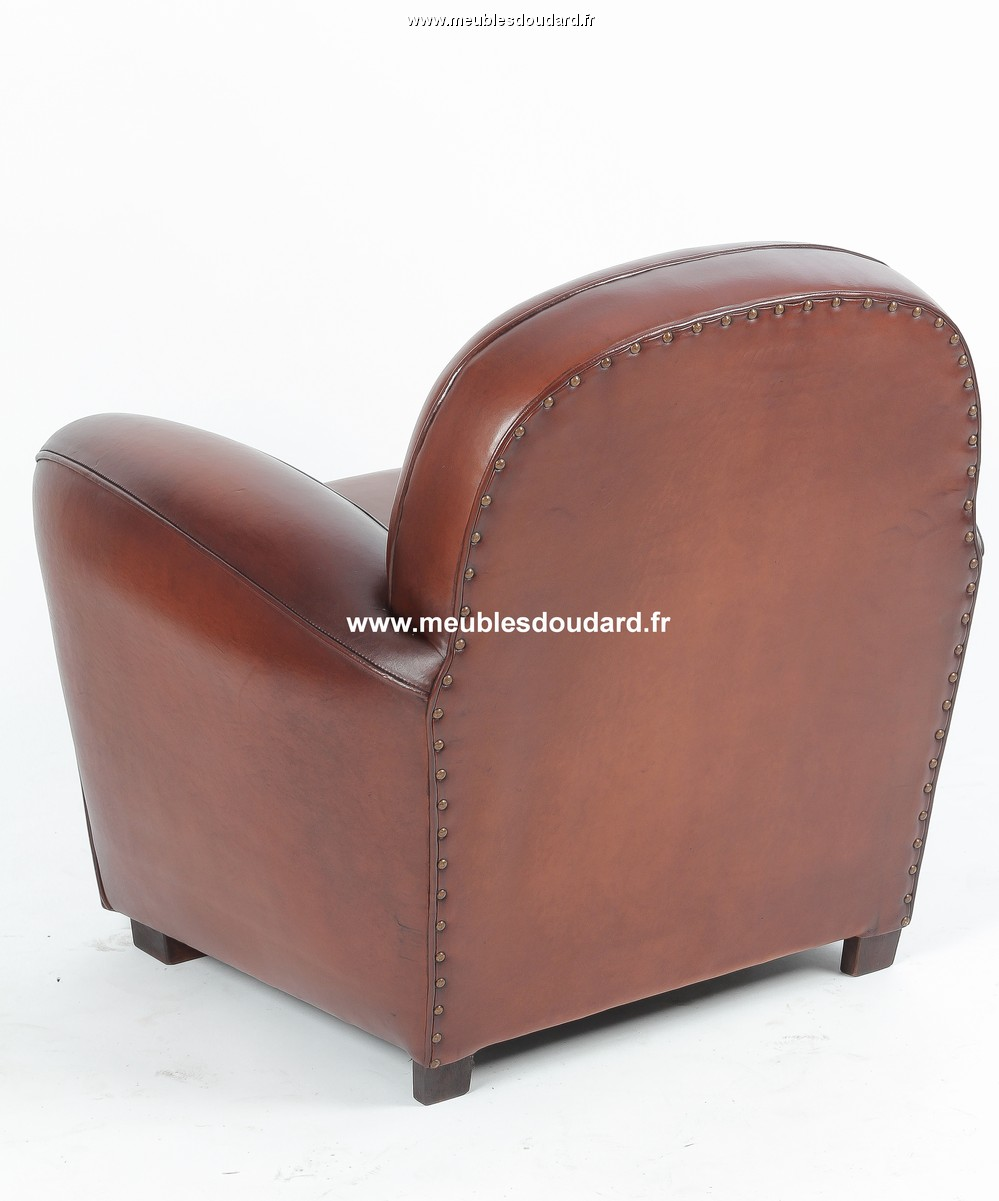 fauteuil club en cuir v ritable r f milan. Black Bedroom Furniture Sets. Home Design Ideas