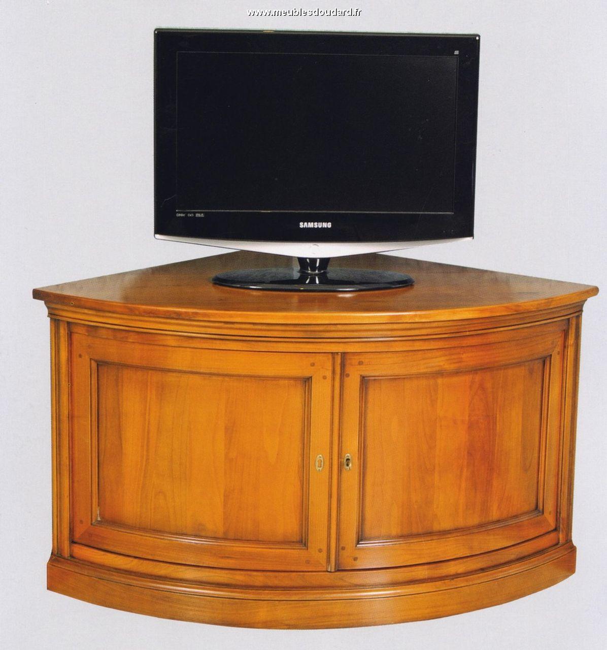 Meuble D Angle Merisier Encoignure Tv Merisier Meuble  # Meuble D'Angle Tv