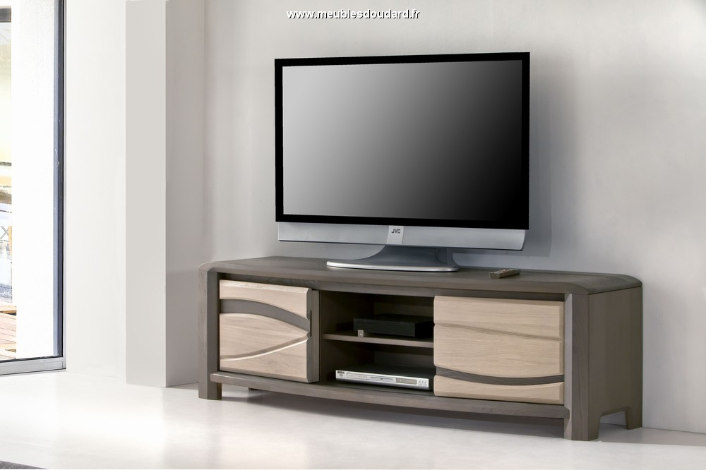 meuble tv moderne en bois massif. Black Bedroom Furniture Sets. Home Design Ideas