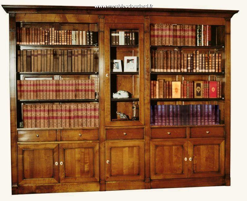 meuble biblioth que biblioth que merisier biblioth que directoire en bois massif. Black Bedroom Furniture Sets. Home Design Ideas