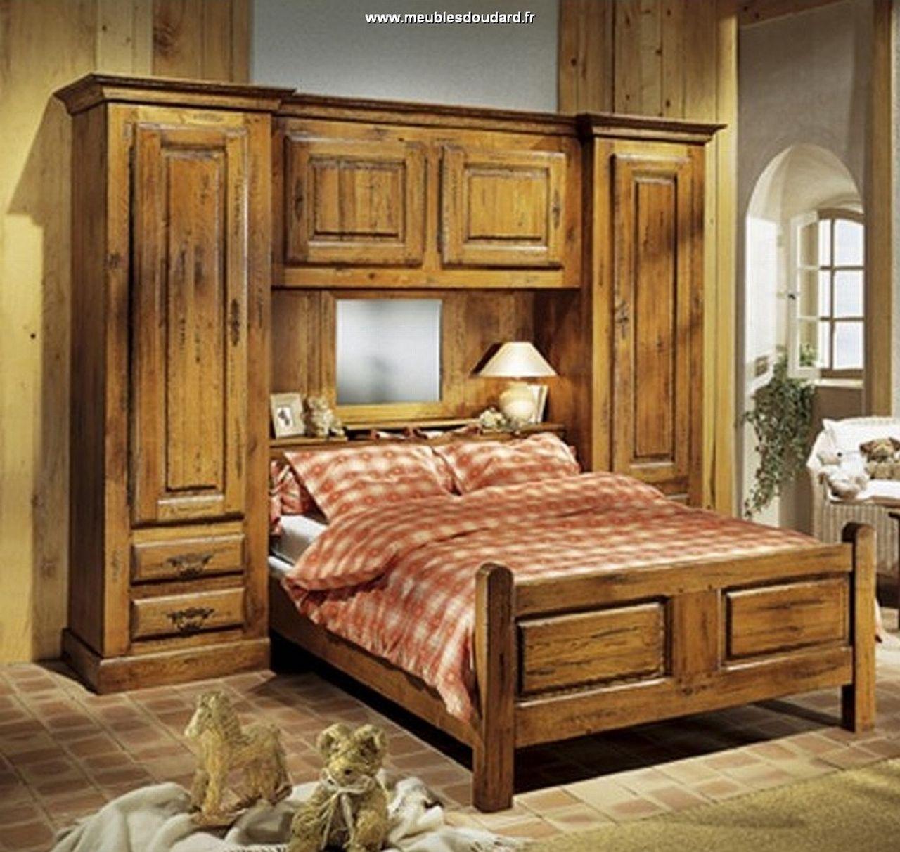 Chambre Chene Massif : Chambre pont chêne meuble de rustique