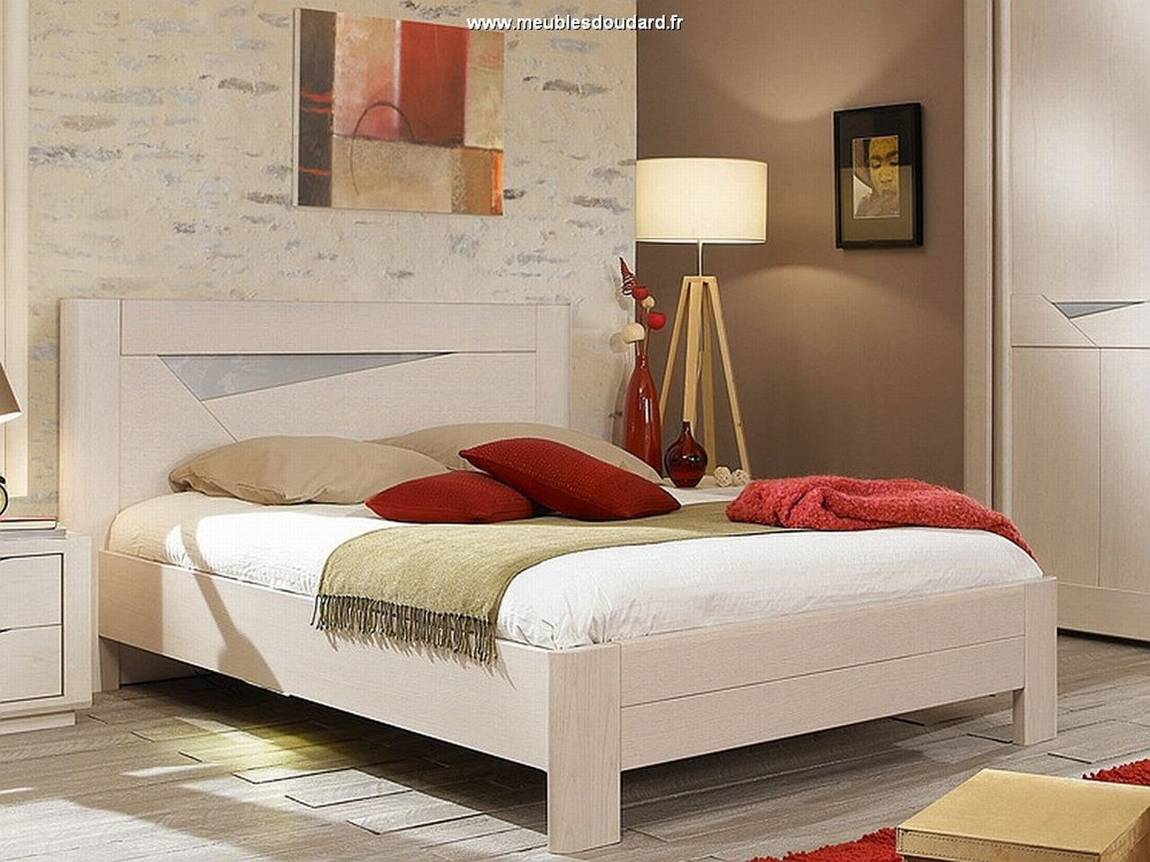 Bois de lit moderne en bois massif