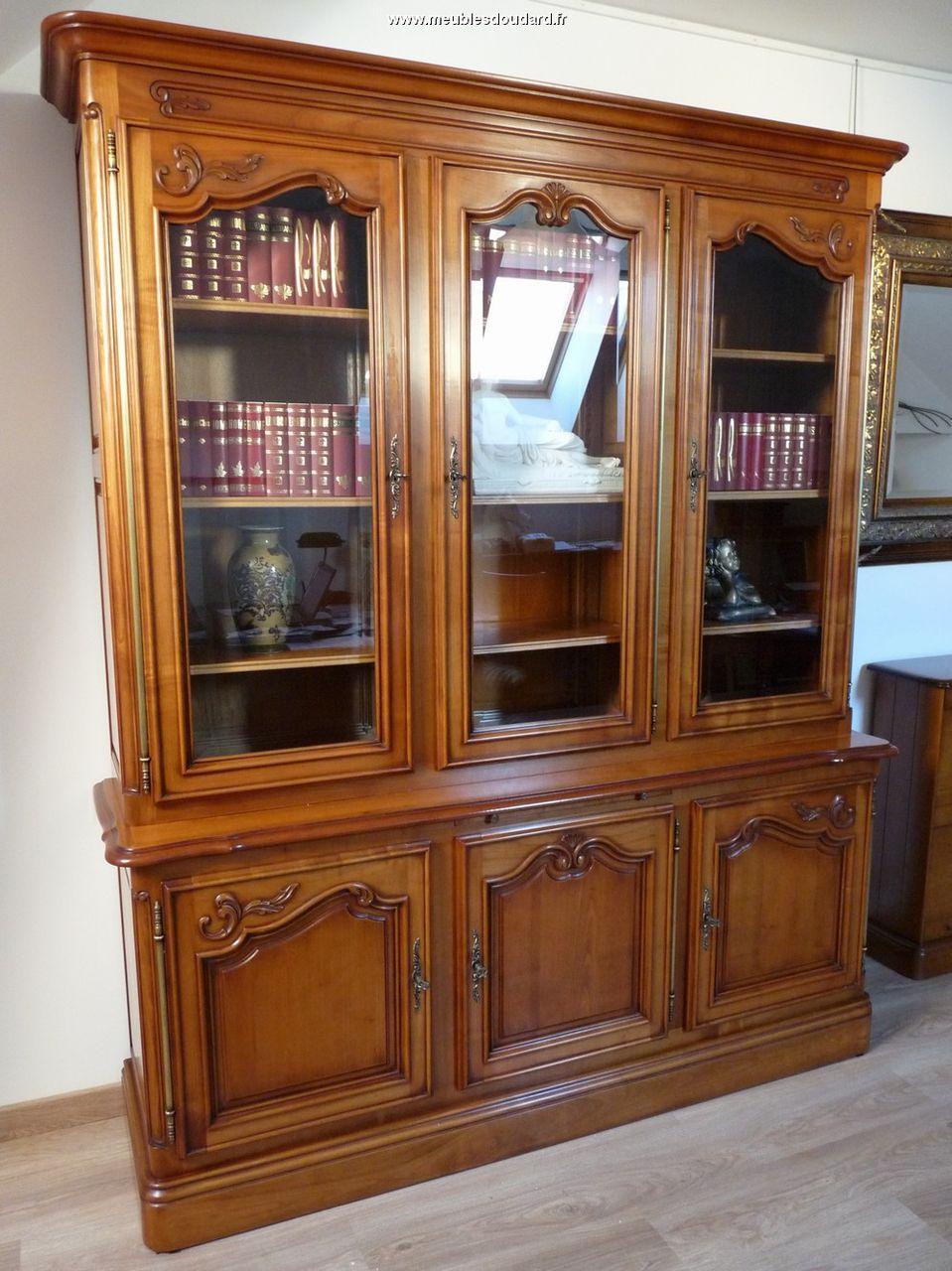 Biblioth que en bois massif - Model de biblioth u00e8que en bois ...