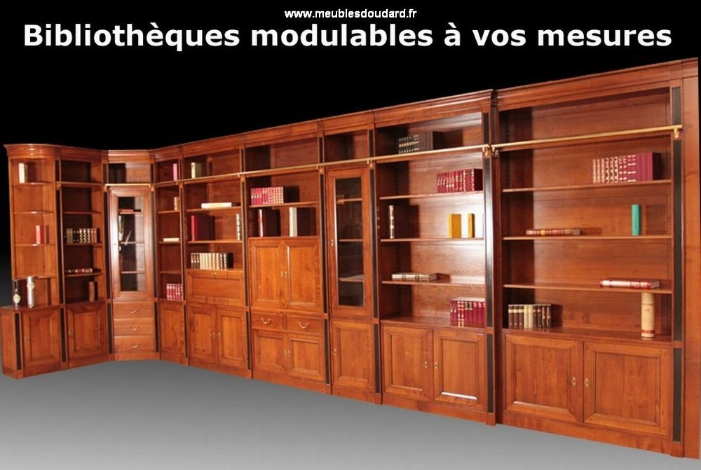 agencement meuble biblioth que en bois biblioth que d. Black Bedroom Furniture Sets. Home Design Ideas