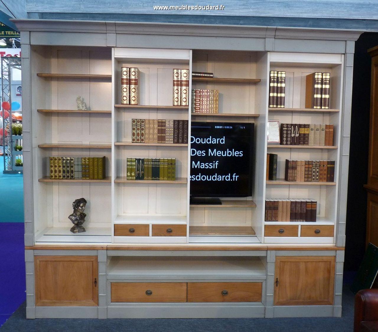 biblioth que merisier sur mesures meuble biblioth que tv. Black Bedroom Furniture Sets. Home Design Ideas