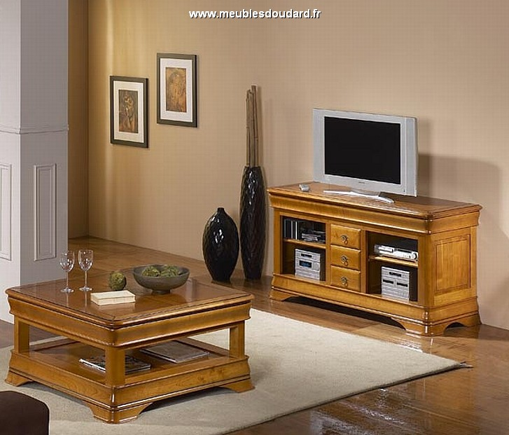 meuble tv meuble t l merisier meuble t l vision. Black Bedroom Furniture Sets. Home Design Ideas