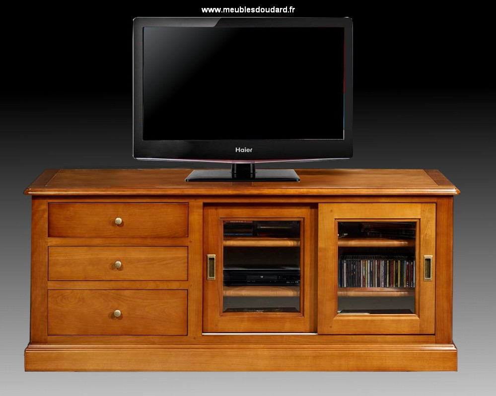meuble tv merisier meuble t l meuble t l vision pour cran plat. Black Bedroom Furniture Sets. Home Design Ideas