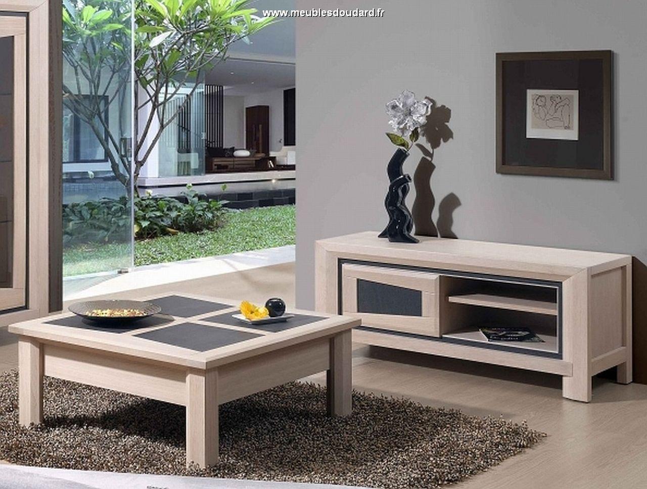 Meuble Moderne : Meuble tv moderne en bois contemporain chêne