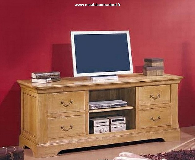 meuble tv meuble t l en bois meuble t l vision en bois massif rustique. Black Bedroom Furniture Sets. Home Design Ideas