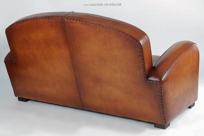 Genuine leather club sofa
