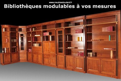 bibliotheques sur mesures bibliotheques vitrines. Black Bedroom Furniture Sets. Home Design Ideas