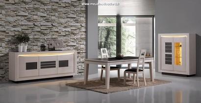 Salle manger modernes en bois massif for Meuble salle a manger blanc et bois