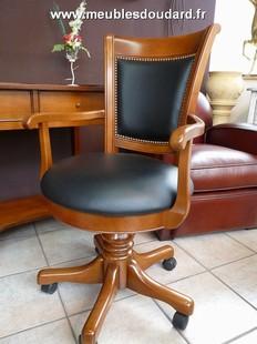 Meubles bureaux louis philippe et directoire en merisier for Chaise de bureau en bois a roulette
