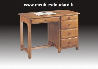Bureau en bois massif à tiroirs - Petit bureau en bois