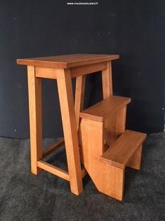Chaise fauteuil chaise d 39 enfant en bois banc cabriolet - Tabouret escabeau escamotable ...