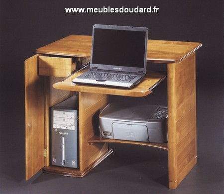bureau informatique r f 099dh merisier. Black Bedroom Furniture Sets. Home Design Ideas
