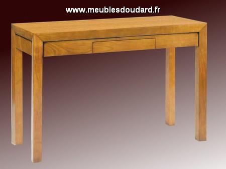 Console 2 tiroirs r f al18 ch ne - Console extensible chene massif ...