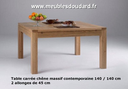 Console 2 tiroirs r f al18 ch ne Table carree bois massif avec rallonge