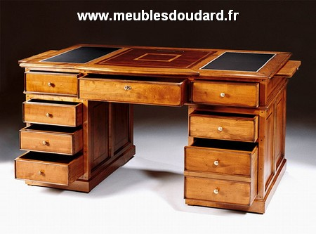bureau ministre informatique merisier r f dh 023. Black Bedroom Furniture Sets. Home Design Ideas