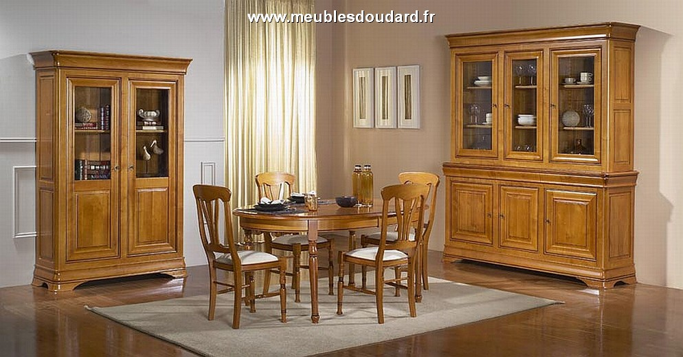 vitrine 2 portes en merisier de style louis philippe r f passion. Black Bedroom Furniture Sets. Home Design Ideas