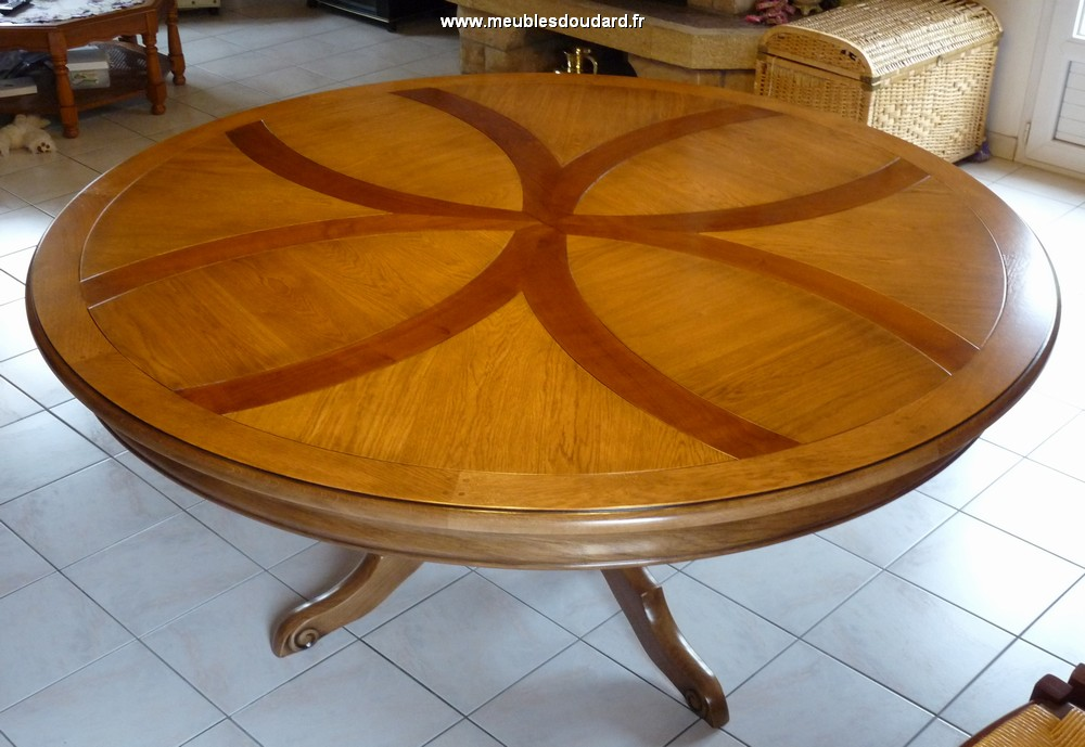 Table ronde pied central - Table ronde en chene ...