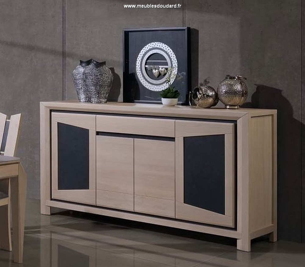 bahut de salle manger moderne en bois massif et c ramique. Black Bedroom Furniture Sets. Home Design Ideas