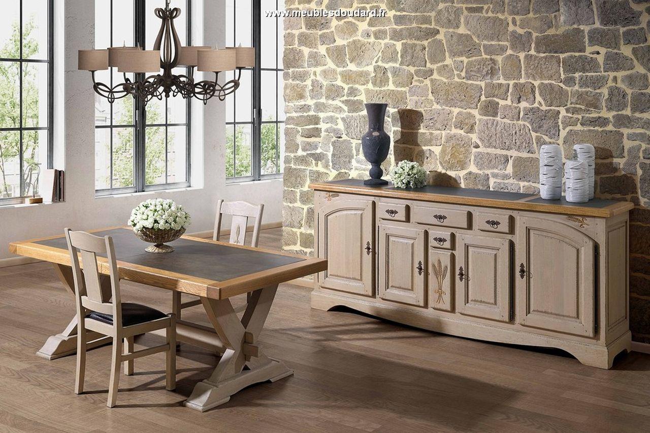 bahut bas 4 portes campagne en ch ne. Black Bedroom Furniture Sets. Home Design Ideas