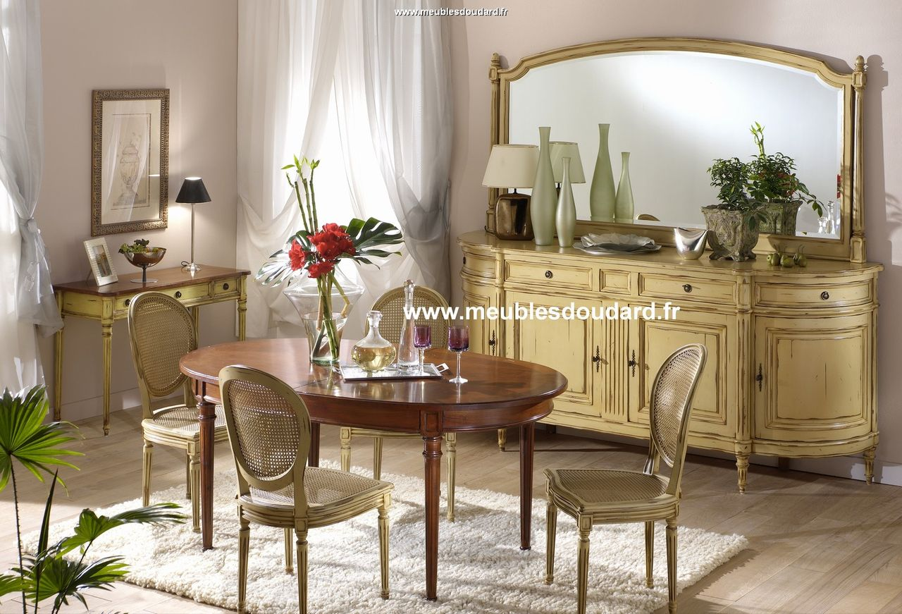 salle a manger louis xvi en merisier bahut a portes galb es. Black Bedroom Furniture Sets. Home Design Ideas