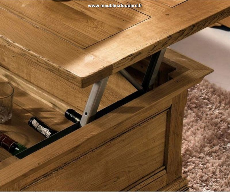 Table basse avec bar excellent bar table basse table bar basse awesome cuisine avec table bar - Table bar salon ...