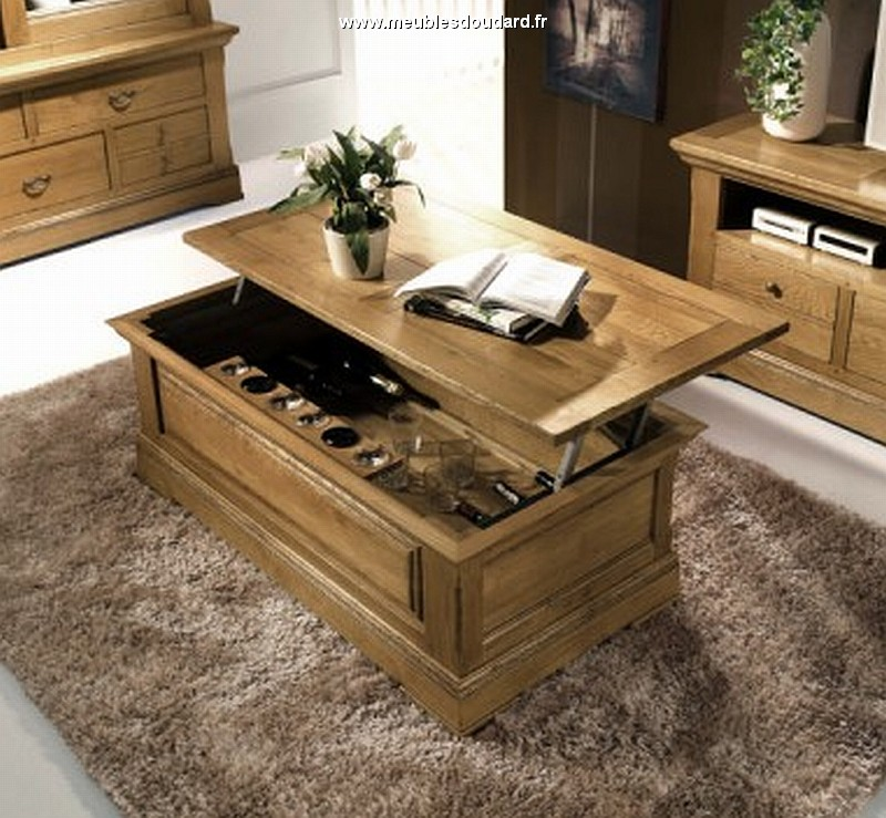 table basse en ch ne table de salon dinatoire table bar. Black Bedroom Furniture Sets. Home Design Ideas