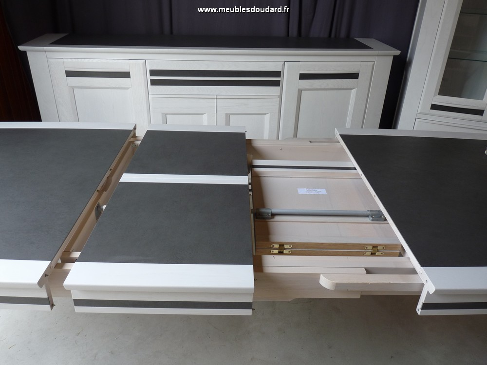 Salle manger en bois blanc design for Salle a manger bois et blanc