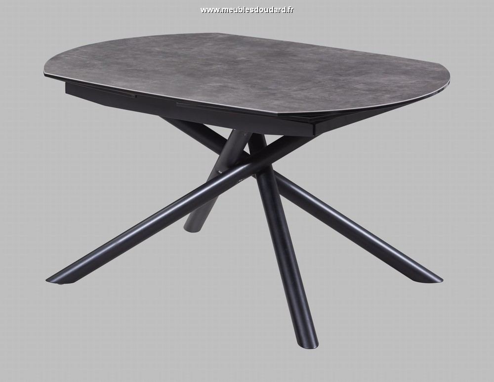 table en c ramique avec pieds m tal. Black Bedroom Furniture Sets. Home Design Ideas