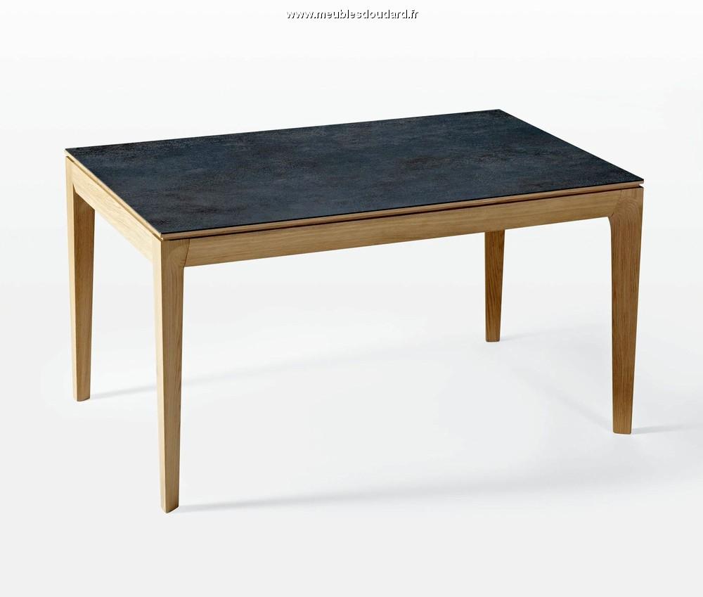 table contemporaine rectangle plateau c ramique. Black Bedroom Furniture Sets. Home Design Ideas