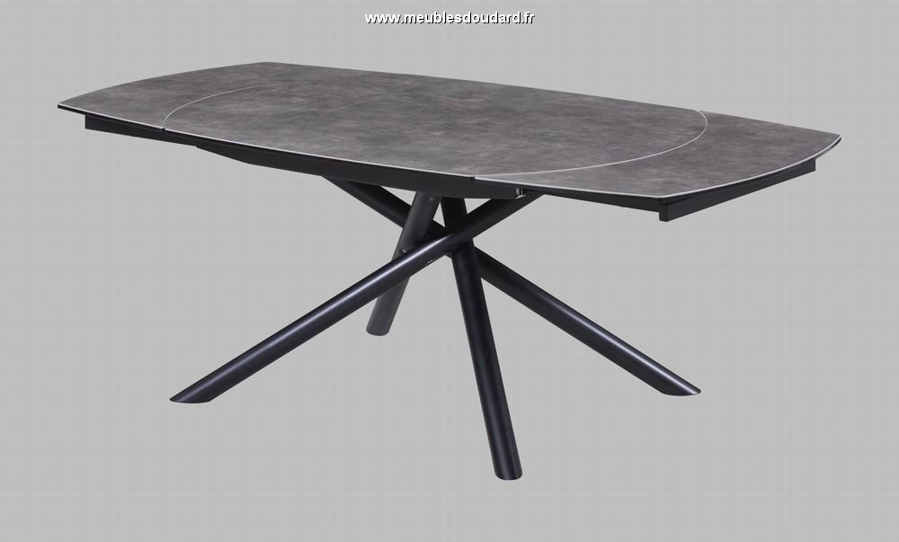 table en c ramique avec pieds m tal. Black Bedroom Furniture Sets. Home Design Ideas