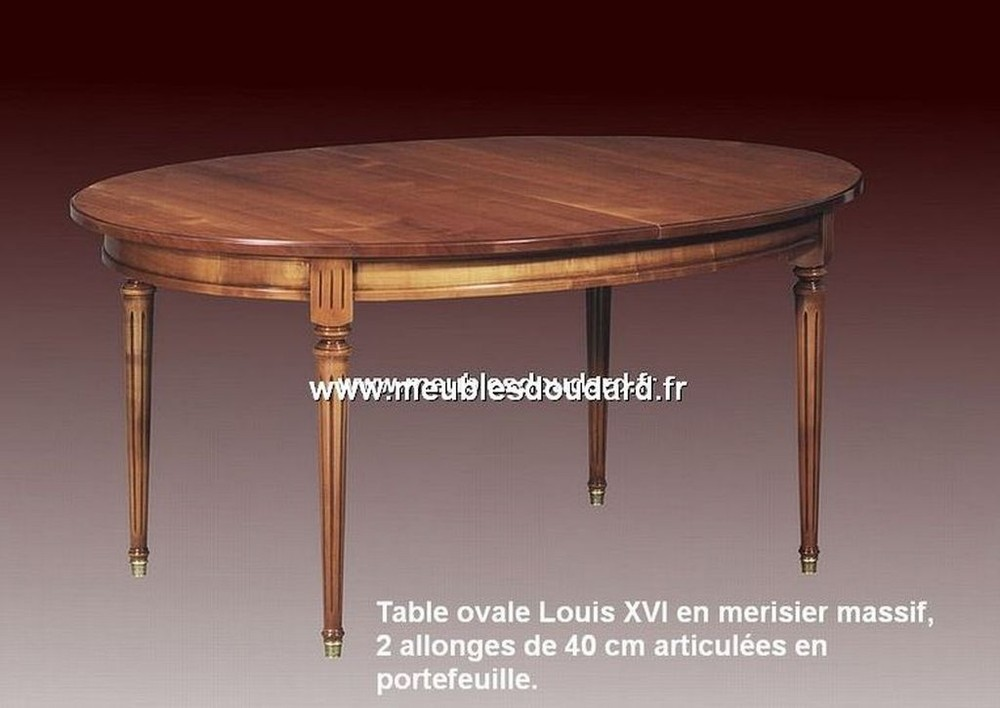 table ovale louis xvi en merisier ref gc. Black Bedroom Furniture Sets. Home Design Ideas
