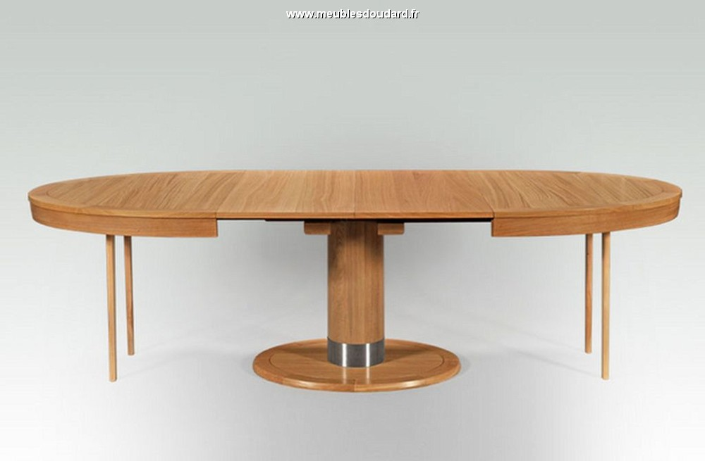 table moderne en bois massif table ovale contemporaine en