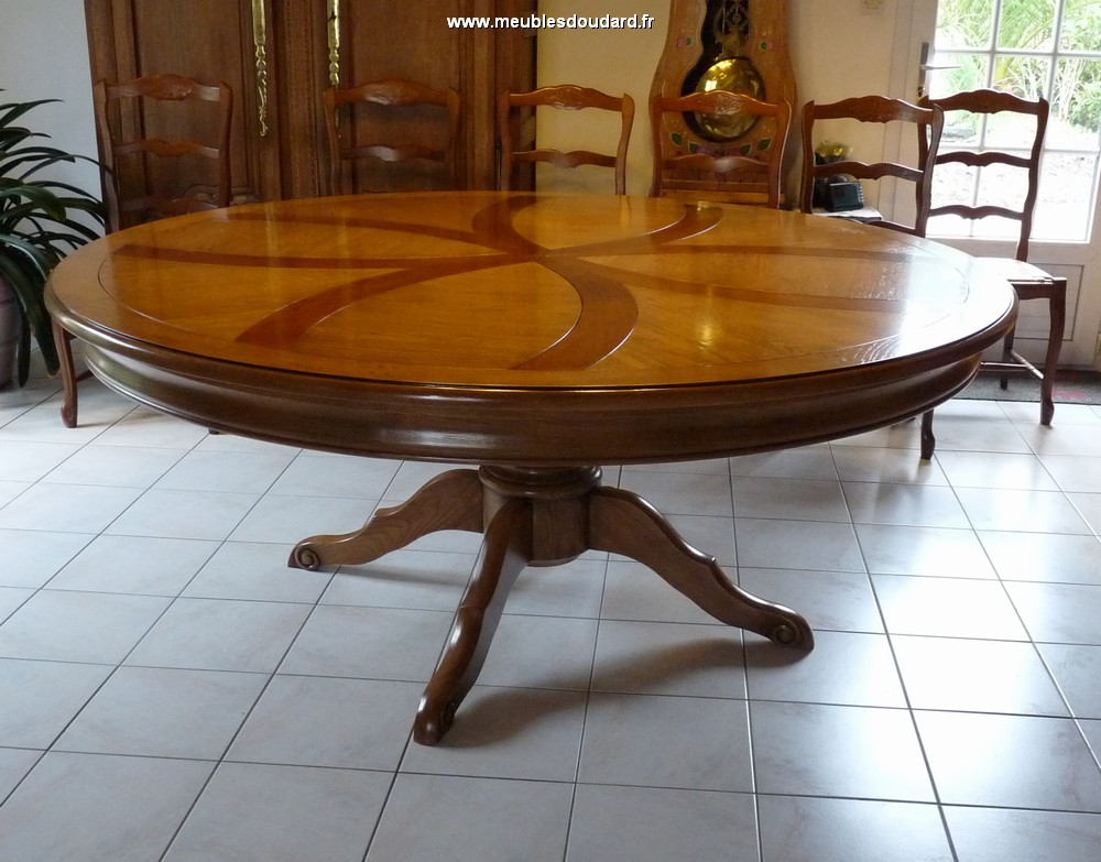 Table ronde pied central - Table en bois ronde ...