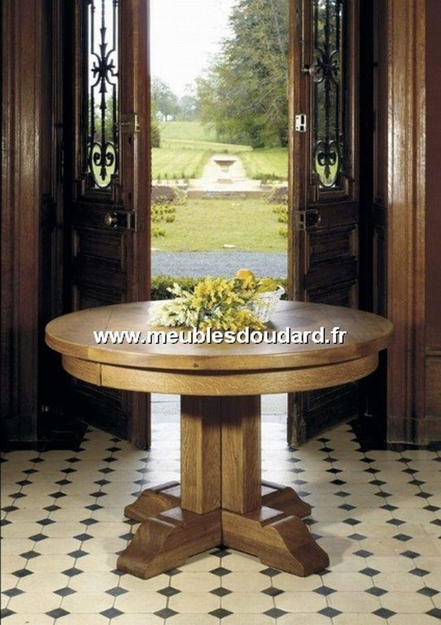 Buffet rustique en ch ne 4 portes ref antan 6 for Table ronde chene massif avec allonges