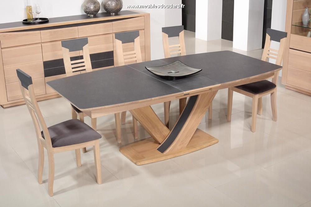 Salle manger moderne en ch ne belem - Table de salle a manger en bois massif ...