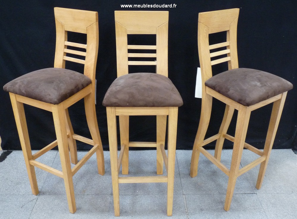 Solid oak bar stool