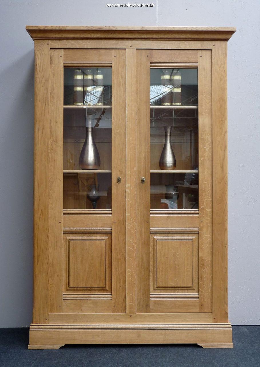 armoire biblioth que biblioth que 2 portes en ch ne rustique biblioth que rustique. Black Bedroom Furniture Sets. Home Design Ideas