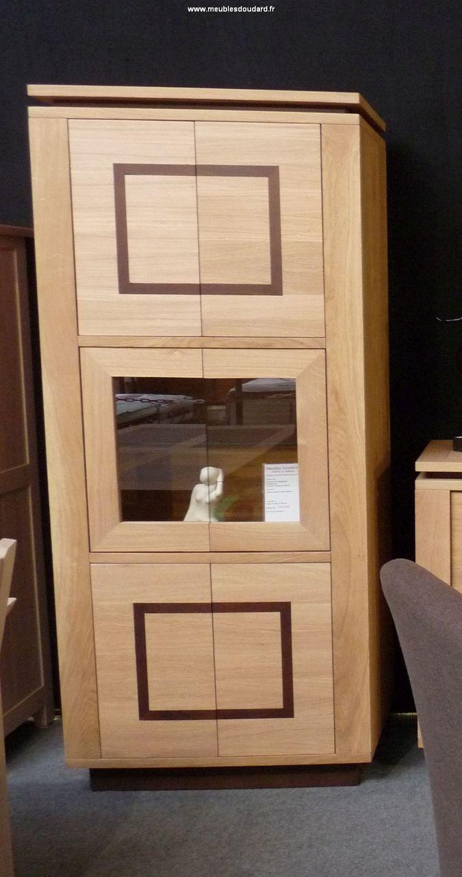 vitrine bar contemporaine en ch ne massif. Black Bedroom Furniture Sets. Home Design Ideas
