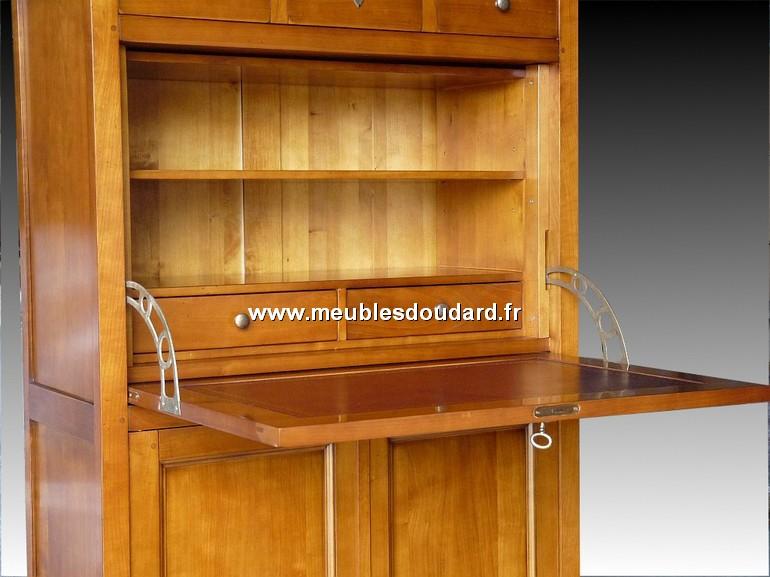 secr taire louis philippe 2 portes r f l28 merisier. Black Bedroom Furniture Sets. Home Design Ideas