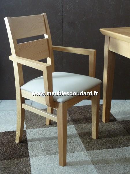 fauteuil bout de table moderne en bois massif
