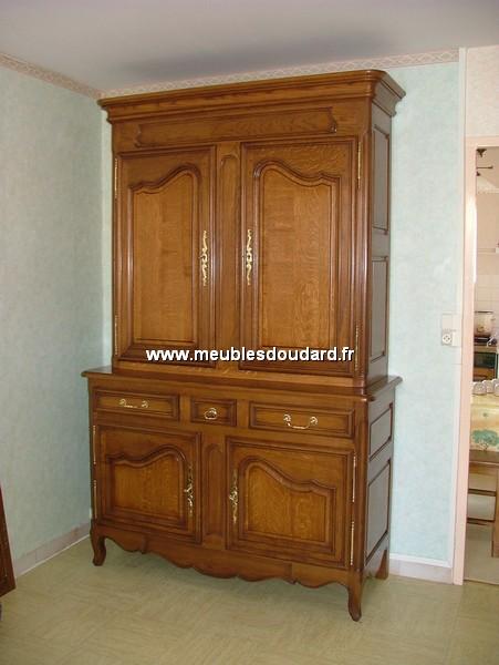 buffet 2 corps en ch ne normand r f boui. Black Bedroom Furniture Sets. Home Design Ideas