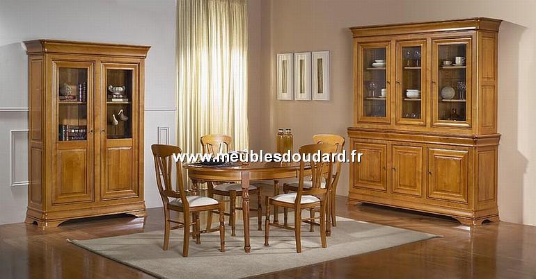 Table ovale de salle manger merisier louis philippe r f for Salle a manger merisier