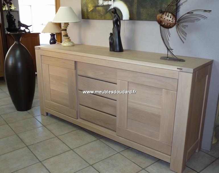 bahut contemporain r f dia ch ne blanchi. Black Bedroom Furniture Sets. Home Design Ideas
