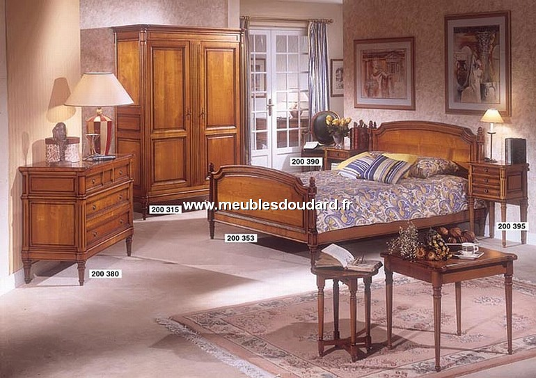 chambre coucher louis xvi merisier. Black Bedroom Furniture Sets. Home Design Ideas